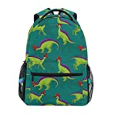 Adult Travel Backpack Cute Lambeosaurus School Casual Book Bags Lightweight Travel Daypack