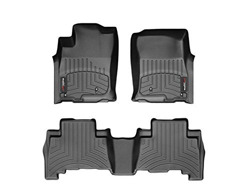 WeatherTech Floor Liners Full Set for Double Cab With Automatic (1st and 2nd Rows) – Black