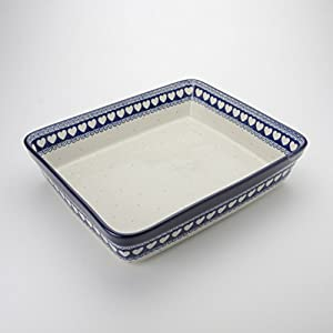 Polish Pottery Large Lasagne Dish – Light Hearted – 32cm x 26cm