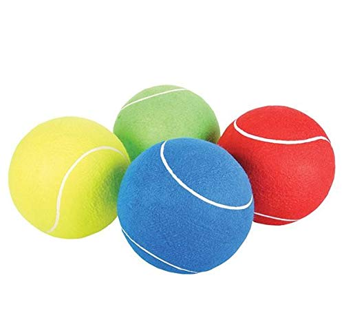 - Rhode Island Novelty 8 Inch Jumbo Tennis Ball | Set of 4 | Colors May Vary