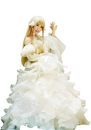 Mtxc Women's Chobits Cosplay Costume Chi Gorgeous Dress 2nd Size X-Small White