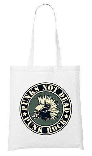 Punks Not Dead Bag White Certified Freak