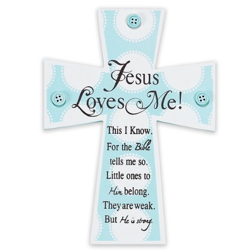dicksons-jesus-loves-me-wall-cross-blue-buttons