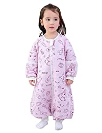 Baby Sleeping Bag 18-36 Months Cute Fashion Baby Unisex Clothes Long Sleeve Cartoon Winter Warm Romper Outfit Pink XL