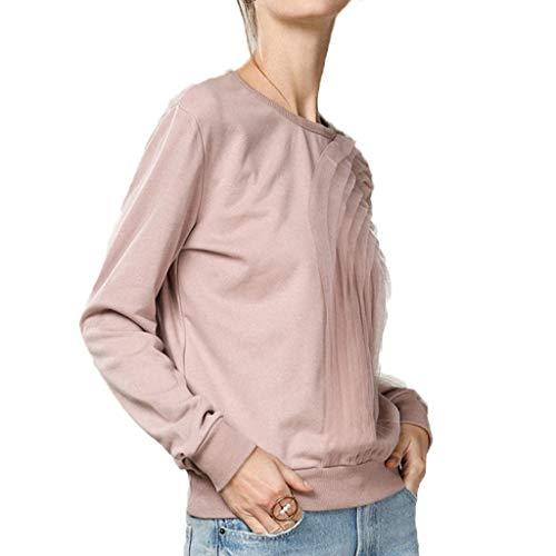 Da Accostare ff Collo Rotondo Pink Lunga Lff Basso Maglione Manica Donna 5fxUaqR