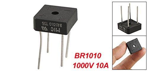 eDealMax de BR1010 Demi-onde monophas/é Pont redresseur 1000V 10A