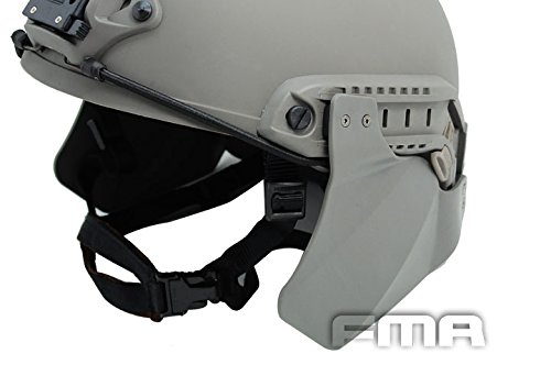 Worldshopping4U Tactical Airsoft headphonics lateral sube armadura protectora para casco Fast Rail FG, sin casco