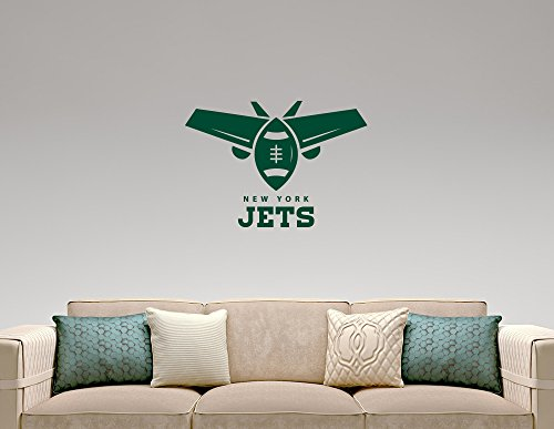 Nfc Football League - New York Jets NFL Emblem Wall Sticker American Football Team Logo Vinyl Decal Home Interior Decorations Extreme Sports Sign Art Locker Room Bedroom Decor 2nyj (32