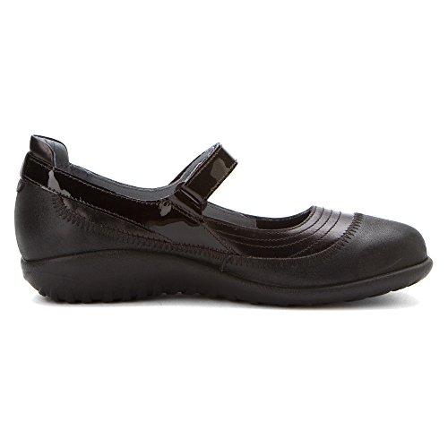 Naot Schuhe Frauen Kirei Mary Jane Wohnung Schwarzes Leder Combo