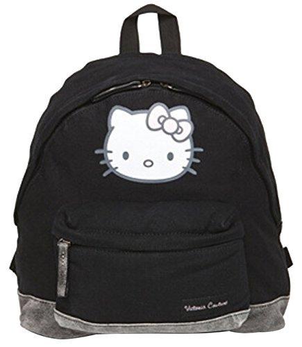 Hello Kitty Backpack Canvas Cotton Black 34 x 29 x 13 cm (HxWxD) ()