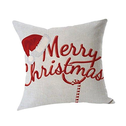 TATGB 8 design Christmas theme Xmas Socks Pillow Case Throw Cushion Cover