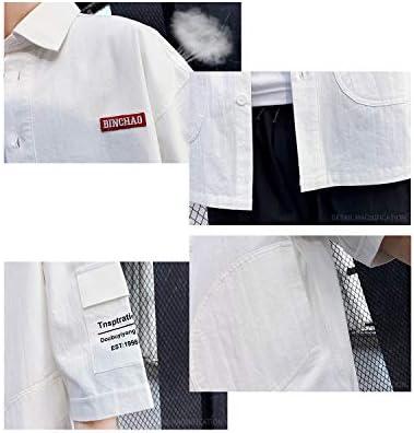 JinsX シャツ メンズ 夏服 半袖 吸汗速乾 汗染み防止 100%綿 夏 対応 ジャケットシャツ ファッション ポロシャツ メンズ Tシャツ オックスフォード ポケット シャツ 通気性 通勤 通学