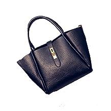 ETRADE Women's/Lady's PU Leather Handbag Tote Bag