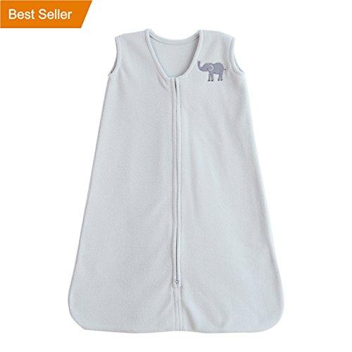 TILLYOU Sleeveless Sleep Sack with Inverted Zipper - Baby Wearable Blanket for Infants Newborns 0-6 Months 100% Micro Fleece Sleeping Bag Soft Cozy and Warm, Gray (Fleece Blanket Bag)