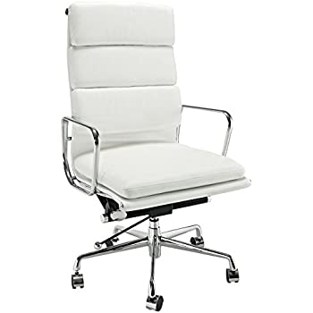 eames reproduction office chair. Brilliant Office EMod  Eames Style Softpadded Executive Office Chair Reproduction Leather  White On