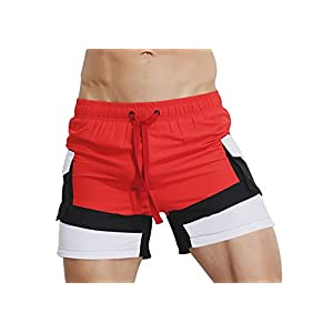 SALENT Mens Swim Trunk Swimming Short Boxer Briefs Swimwear Pants with Pocket