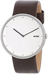 Alessi Men's AL13001 Stainless Steel Automatic Watch with Brown Leather Strap