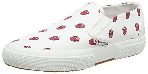 Superga Superga Fancotu Slip On - Zapatillas Unisex adulto Blanco - White (904 White Red)
