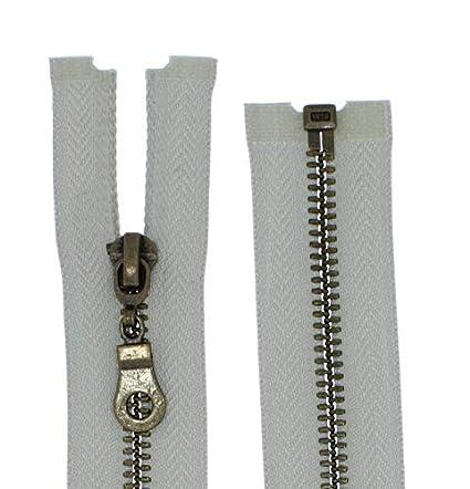 5 mittelgrob Br/üniert Teilbar f/ür Jacken Farbe: 1 FIM Rei/ßverschluss Metall Nr 30cm lang 322 schwarz