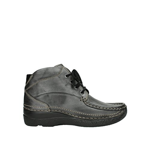 Boots 30210 Metallic Wolky Finish 6242 Anthracite Leather nbsp;roll Shoot dxYqwrOIq