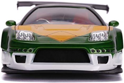 JADA 1//24 POWER RANGERS 2002 HONDA NSX TYPE R with FIGURE DIECAST GREEN 31909