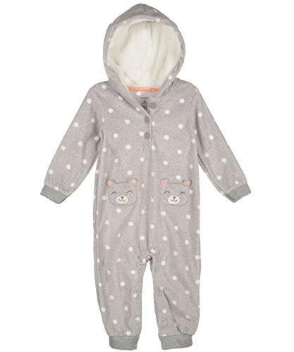 Carter's Baby Girls' Print Fleece Pram (Baby) - Heather - 12 Months