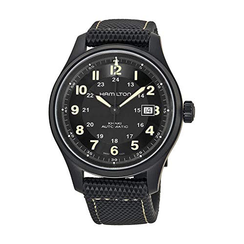Black Dial Auto (Hamilton Men's HML-H70575733 Khaki Field Black Dial Watch)