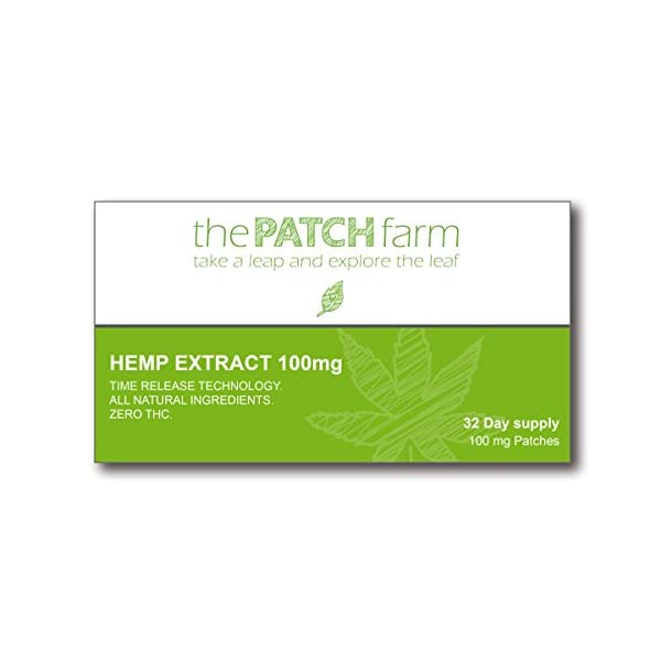 Nutritional Hemp extract Patch 100mg (32 day supply)