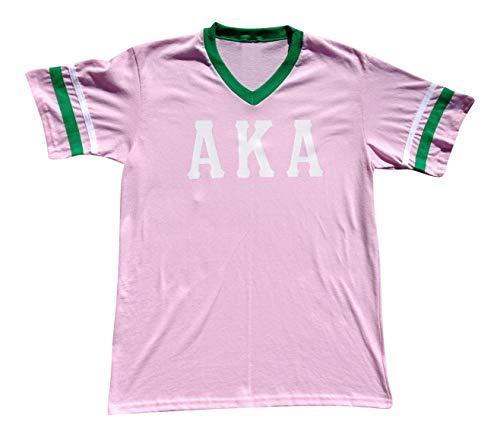 Mega Greek Womens Alpha Kappa Alpha Stripe Sleeve Jersey X-Large Pink (Alpha T-shirt Jersey)
