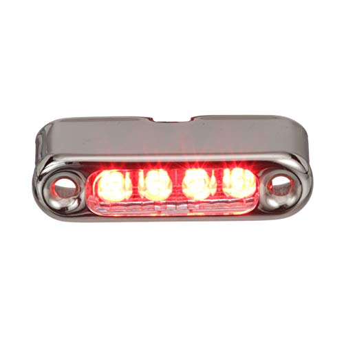 attwood 6350R7 LED Micro Lights, Stainless Steel Bezel, Vertical Mount, Red Light.66-Watt Draw at 12 Volts DC