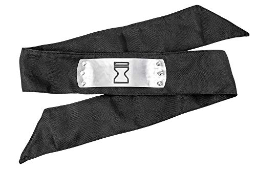 DAZCOS Japanese Anime Sand Ninja Party Cosplay Headband (Black) (Naruto Ultimate Ninja 5 Ps2 Unlock All Character)