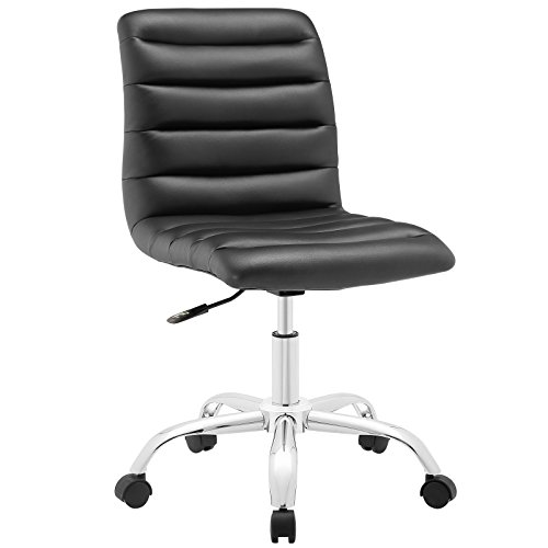 Modway Ripple Armless Mid Back Office Chair in Black