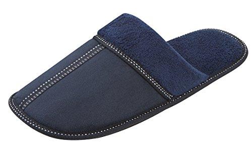 Pierre Roche - Zapatillas de estar por casa para hombre azul marino