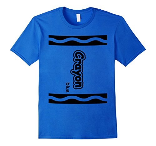 [Mens Blue Crayon Easy Halloween Costume Cute T-Shirt Medium Royal Blue] (Cute Easy Costumes Ideas)