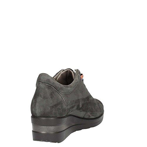 Melluso R0806 Lapis Scarpa Donna Sneaker Zeppa Pelle scamosciata Grigio