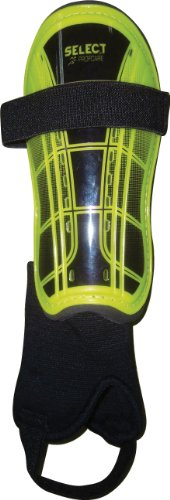 (Select Sport America Miami Shin Guard, Lime/Black, Pee Wee )