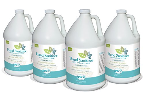One Gallon Refill - BAC-D 635 Alcohol Free Hand Sanitizer and Wound Care, 1 Gallon Refill, 128 oz. (Pack of 4)