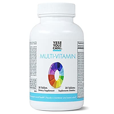 Yes You Can! Multivitamin for Women and Men - Supports Overall Health and Well-being, Contains Antioxidants, Rich in Vitamin A, B, C and E, Daily Vitamins, 30 Tablets