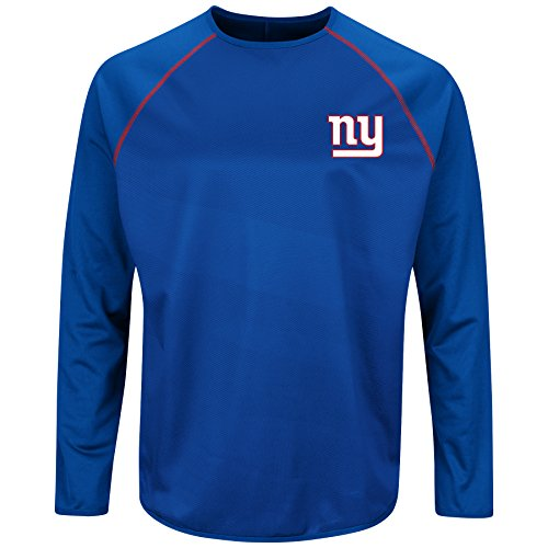 New York Giants Majestic Rival Vision Long Sleeve Crewneck - Crew T-shirt Majestic