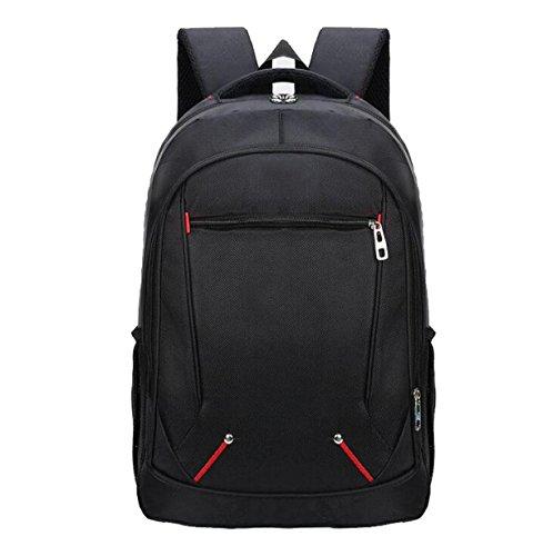 Laptop Rucksack Daypack Casual Rucksack Wasserdichte Männer Und Frauen Schultasche Für Studenten Wandern Arbeit Reisen Outdoor Sports (Schwarz)