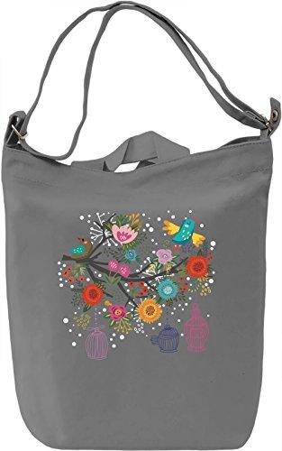 Bird tree Borsa Giornaliera Canvas Canvas Day Bag| 100% Premium Cotton Canvas| DTG Printing|
