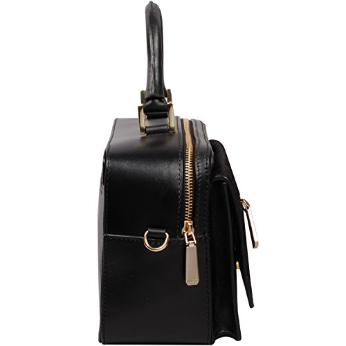 Ri2K  Holloway, Damen Satchel-Tasche Schwarz Black Pony