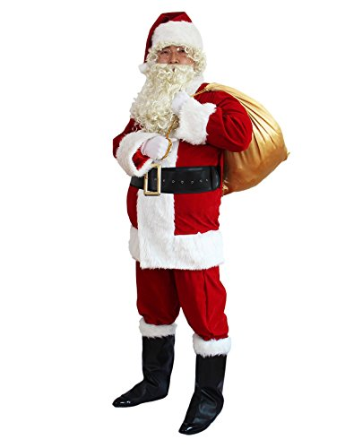 Ahititi Santa Suit Adult Costume 10pc. ()