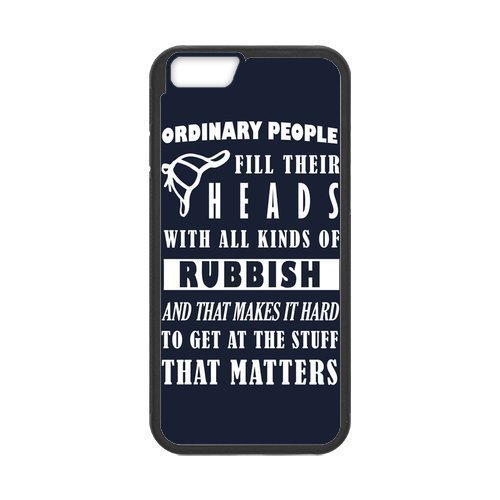 iPhone 6 Protective Case - Sherlock Quote Hardshell Cell Phone Cover Case for New iPhone 6