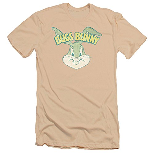 Bugs Bunny Head Premium T-shirt, Cream, Medium