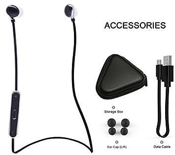 Aromafe®S360 Bluetooth 4.0 estéreo inalámbrico Ejecución de deporte auriculares de botón cancelación de ruido ...