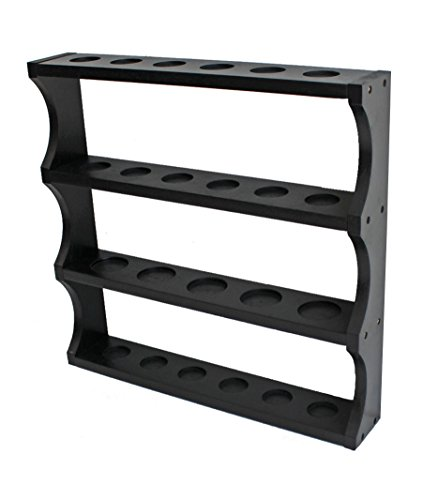 Shot Glass Display Rack Curio Wall Shelf (Black Finish) SC05-BL