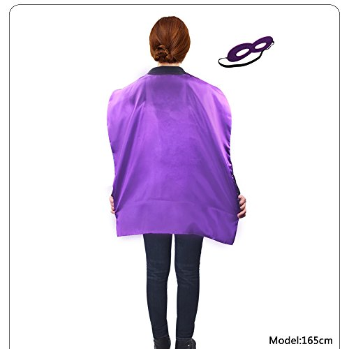 D.Q.Z Superhero Capes and Masks Dress Up Costumes for kids 90cm Double Layer (9 D's Costume)