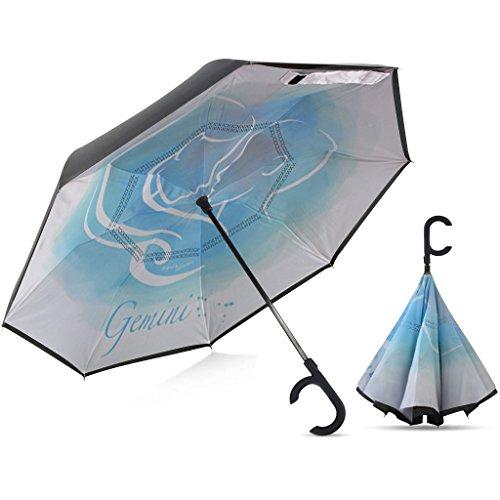 Broni Large Inverted Auto Umbrella | Gemini Zodiac