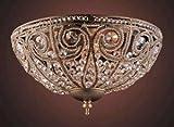 Elk Elizabethan 3-Light Flush-Mount Ceiling Fixture, Dark Bronze